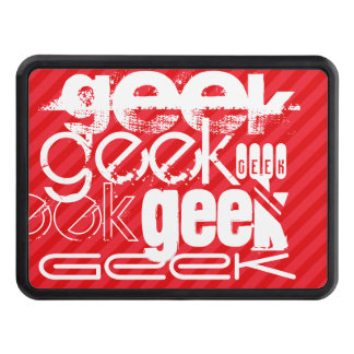 Geek; Scarlet Red Stripes Hitch Covers