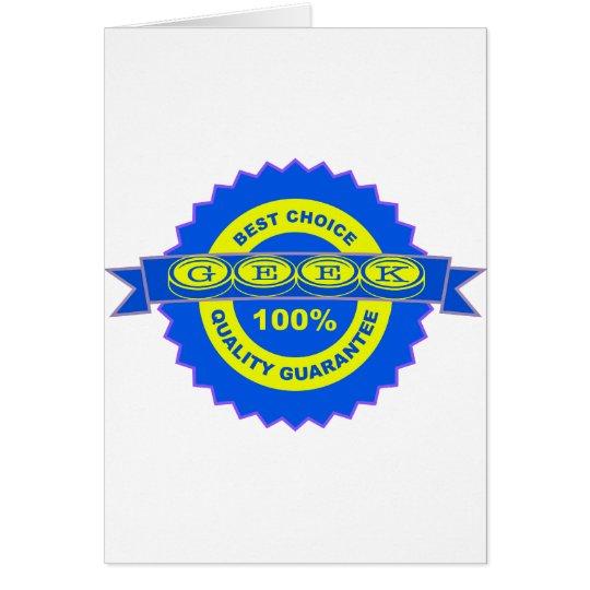 Geek Seal of Approval Card