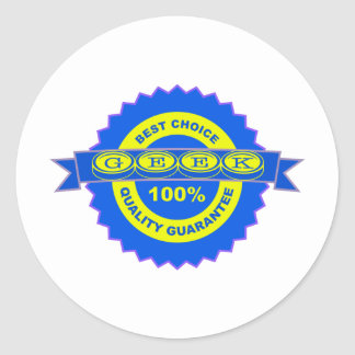 Geek Seal of Approval Round Stickers