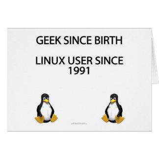 Geek since birth. Linux user since 1991. Card