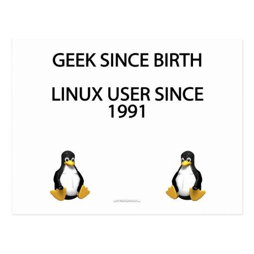 Geek since birth. Linux user since 1991. Post Card