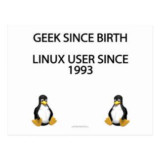 Geek since birth. Linux user since 1993. Postcard