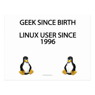 Geek since birth. Linux user since 1996. Postcard