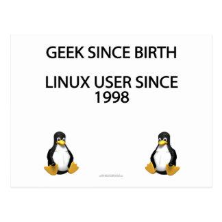 Geek since birth. Linux user since 1998. Postcard
