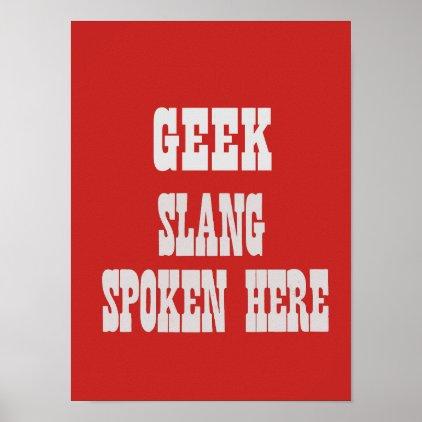 Geek slang poster