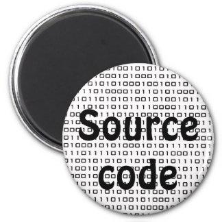 geek ... source code 2 inch round magnet