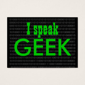 Geek speak 2 business card