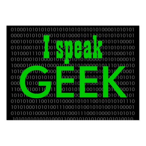 Geek speak 2 business card templates