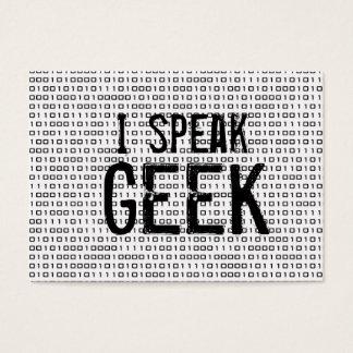 Geek speak business card