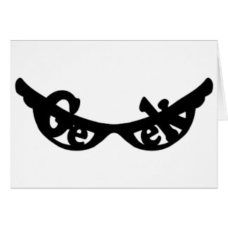 Geek specs stationery note card