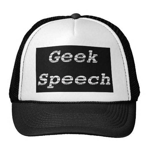 Geek Speech- Mesh Hat