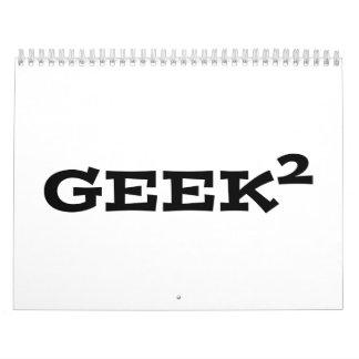 Geek squared wall calendars