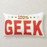 Geek Star Tag Throw Pillows