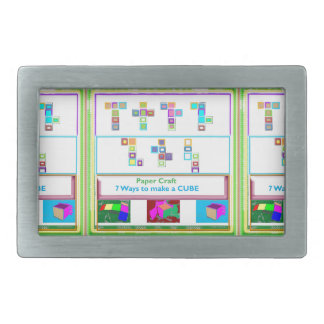 GEEK Street  7 CUBE : Kids Paper Craft Lessons Belt Buckles