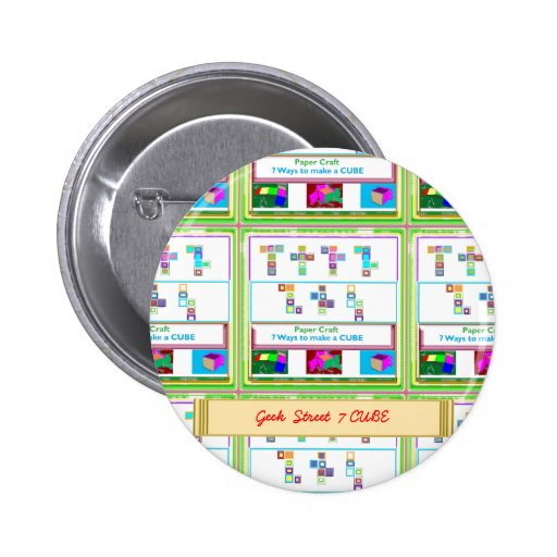 GEEK Street  7 CUBE : Kids Paper Craft Lessons Button