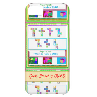 GEEK Street 7 CUBE : Kids Paper Craft Lessons Case For iPhone 5C