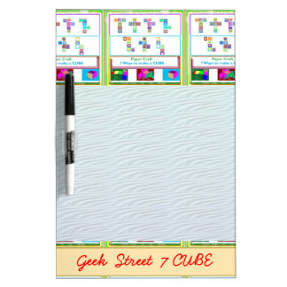GEEK Street  7 CUBE : Kids Paper Craft Lessons Dry Erase Board