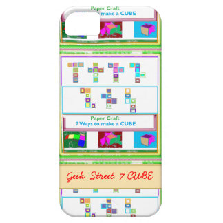 GEEK Street  7 CUBE : Kids Paper Craft Lessons iPhone SE/5/5s Case
