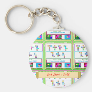 GEEK Street 7 CUBE Kids Paper Craft Lessons Key Chains