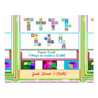 GEEK Street  7 CUBE : Kids Paper Craft Lessons Post Cards