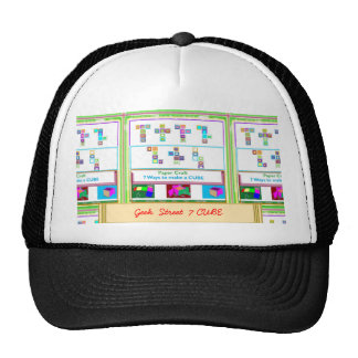 GEEK Street  7 CUBE Paper Craft Lessons Trucker Hat