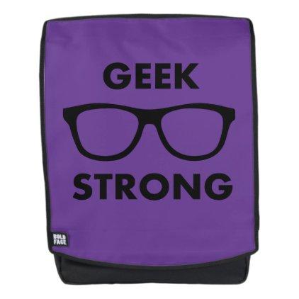 Geek Strong (Purple) Backpack