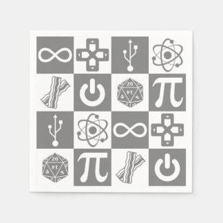 Geek Symbols Disposable Napkins