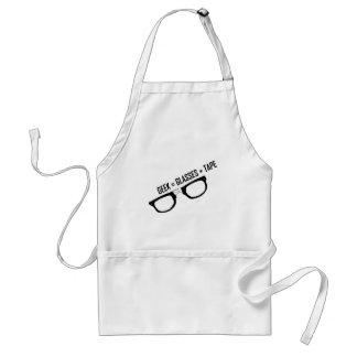 Geek = Tape + Glasses Adult Apron