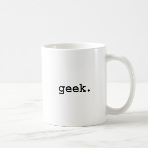 geek. tazas de café