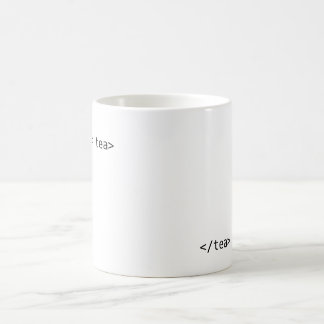 geek tea classic white coffee mug