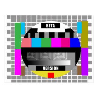 Geek Tees, BETA VERSION TEST PATTERN Postcard