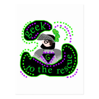 Geek To The Rescue Postcard