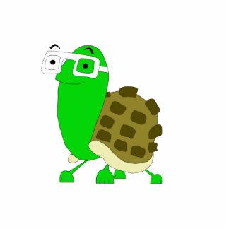 Geek Turtle Sculpture Keychaun Photo Cut Out