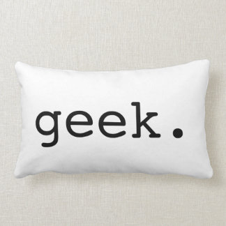Geek Typography Throw Pillow
