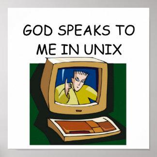 GEEK unix Poster