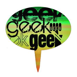 Geek; Vibrant Green, Orange, & Yellow