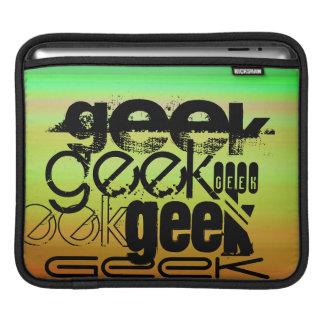 Geek; Vibrant Green, Orange, & Yellow iPad Sleeve