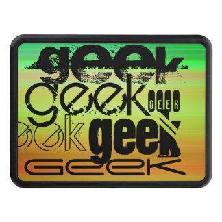 Geek; Vibrant Green, Orange, & Yellow Trailer Hitch Covers