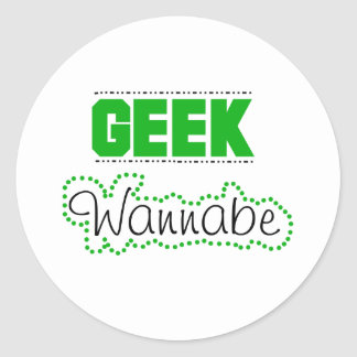 Geek Wannabe Classic Round Sticker