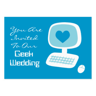 Geek Wedding Invitation Event Cards Large Business Cards (Pack Of 100)