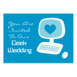 Geek Wedding Invitation Event Cards Business Card