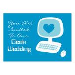 Geek Wedding Invitation Event Cards Business Card