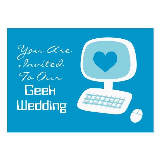 Geek wedding invitation event cards large business cards for Wedding invitations packs of 100