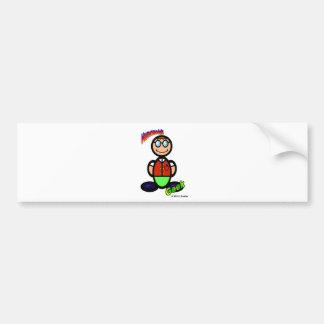 Geek  (with logos) bumper sticker