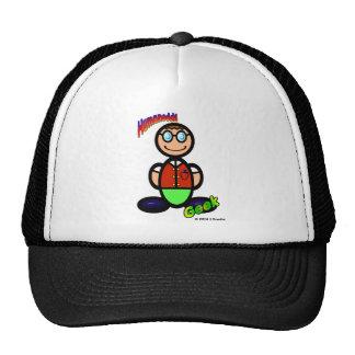 Geek  (with logos) trucker hat