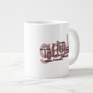 Geek Word Cloud Large Coffee Mug