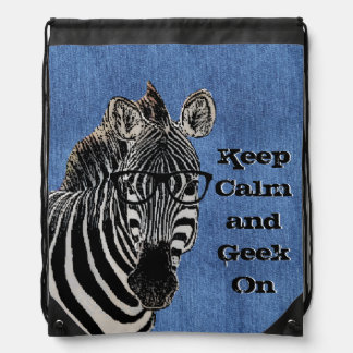 Geek Zebra Keep Calm Backpack