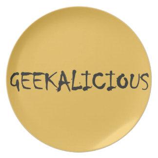 GEEKALICIOUS DINNER PLATE
