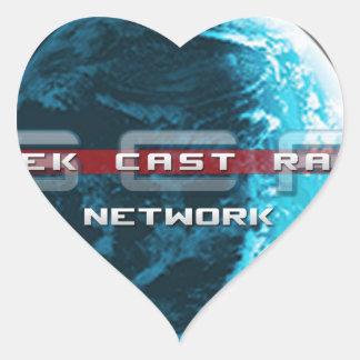 GeekCast Radio Network Heart Sticker