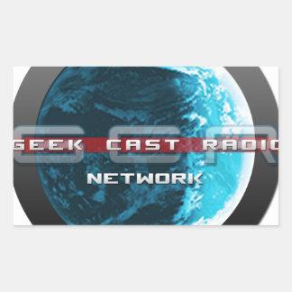 GeekCast Radio Network Rectangular Sticker